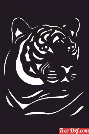 download Tiger wall decor free ready for cut