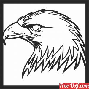 download bald eagle wall art free ready for cut