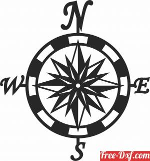 download Compass wall sign free ready for cut