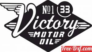 download VICTORY Motor Oil logo decal Retro Sign free ready for cut