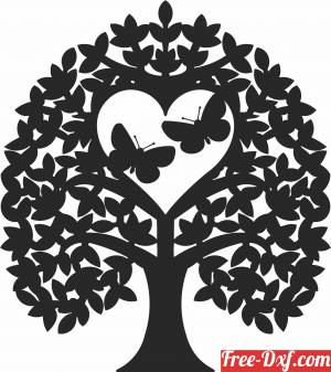 download butterflies tree wall decor free ready for cut