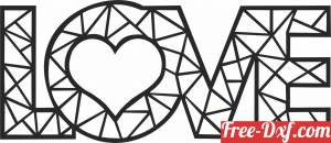 download Love art sign free ready for cut