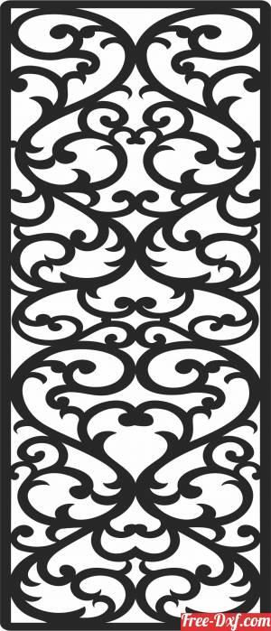 download DOOR   pattern   DECORATIVE door free ready for cut