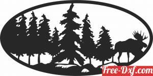 download elk scene art free ready for cut