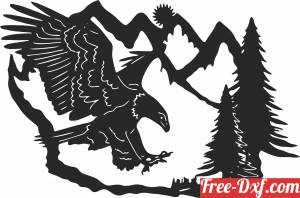 download eagle scene free ready for cut