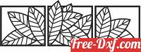 download leaves flowers wall panels free ready for cut