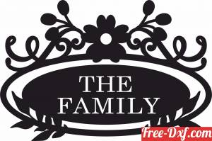 download family name wall sign home decor free ready for cut
