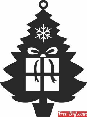 download Christmas decor santa gift tree free ready for cut