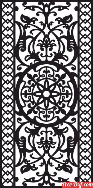 download decorative panel wall screen pattern free ready for cut