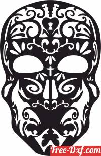 download Sugar Skull Clipart free ready for cut