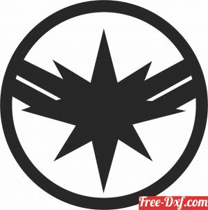 download captain marvel logo free ready for cut