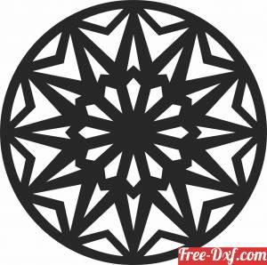 download mandala wall decor cliparts free ready for cut