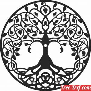 download tree of life Wall Clock free ready for cut