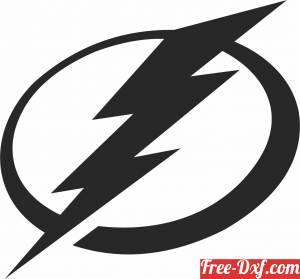 download Tampa Bay Lightning ice hockey NHL team logo free ready for cut