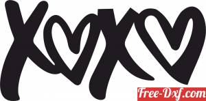 download XOXO love sign free ready for cut