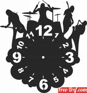download the beatles Wall vinyl Clock free ready for cut