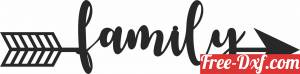 download Family arrow sign free ready for cut