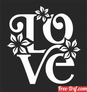 download love floral art free ready for cut