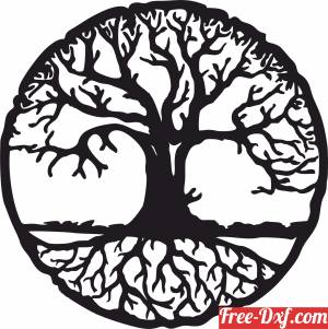 download tree of life wall spiritual art free ready for cut