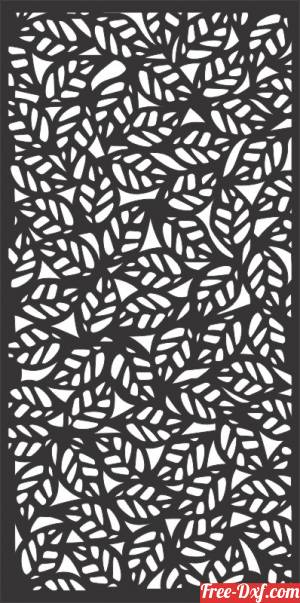 download Leaves decorative panel wall separator door pattern free ready for cut