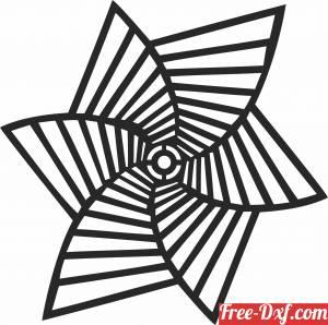 download geometric Wall Clock free ready for cut