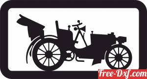 download old retro car wall decor free ready for cut