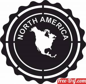 download North america Plaque sign free ready for cut