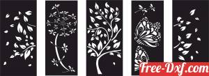 download nature scene panels wall decor free ready for cut