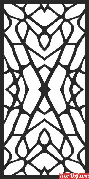 download DECORATIVE  DOOR Pattern   WALL free ready for cut