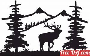 download elk buck scene clipart design deer free ready for cut