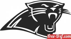 download Carolina Panthers NFL logo free ready for cut