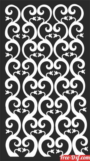 download Door pattern decorative Wall decorative  WALL   Decorative free ready for cut