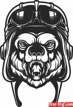 download Bear with glasses clipart free ready for cut
