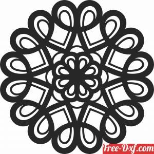 download mandala Decorative pattern free ready for cut