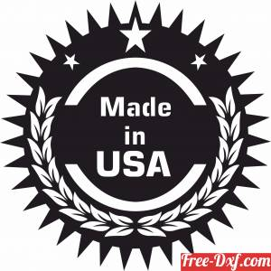 download made in USA sign free ready for cut