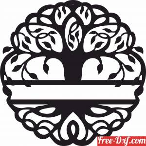 download tree of life with custom name free ready for cut