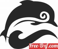 download Silhouette Dolphin clipart free ready for cut