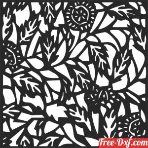 download floral wall screen partition decorative flowers pattern free ready for cut