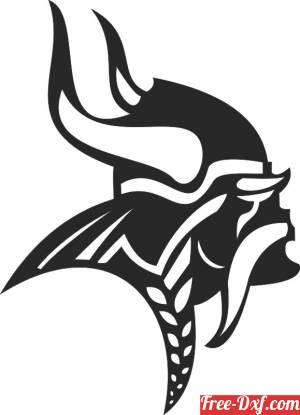 download NFL Minnesota Vikings football NFL logo free ready for cut