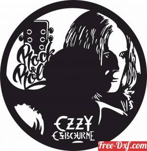 download Ozzy Osbourne Wall Clock free ready for cut