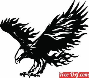 download Flying Eagle sign free ready for cut