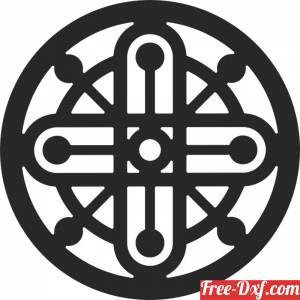 download mandala round pattern free ready for cut