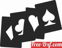 download Wall Art cards Poker free ready for cut