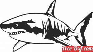 download shark wall decor fish clipart free ready for cut