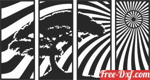 download scene panels tree wall panel design free ready for cut
