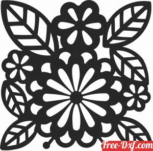 download floral leaves tree wall arts free ready for cut