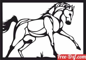 download horse wall decor free ready for cut