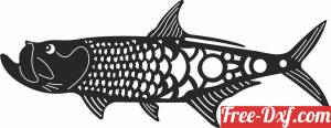 download fish art vector free ready for cut