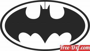 download batman Superhero logo free ready for cut