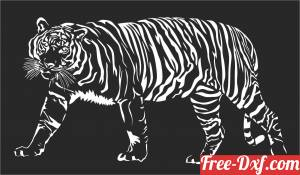 download Hunting tiger decor art animal free ready for cut